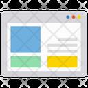 Web Page Web Template Web Design Icon
