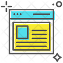 Web Page Web Template Web Structure Icon