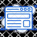 Web Layout Web Template Web Page Icon