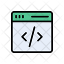 Web Page Coding Icon