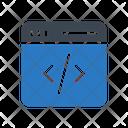 Coding Programming Webpage Icon