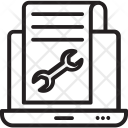 Web Page Maintenance Icon