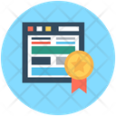 Webpage Ribbon Badge Webpage Quality Icon
