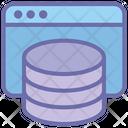 Web Page Server Data Web Icon