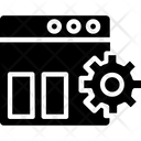 Web Panel Admin Control Icon