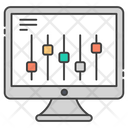 Web Parameter Web Equalizer Web Adjustment Icon