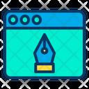 Pen Web Design Graphic Icon