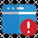 Website Error Security Notice Icon