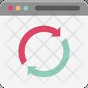 Web Processing Synchronization Sync Icon