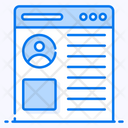 Web Profile Web Account Web User Icon