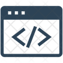 Seo Html Code Icon