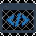 Application Coding Custom Development Icon