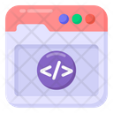 Web Coding Web Programming Web Development Icon