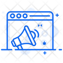 Web Marketing Web Promotion Web Campaign Icon