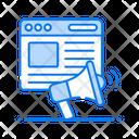 Web Promotion Web Marketing Digital Marketing Icon