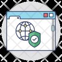 Web Safety Shield Icon