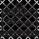 Web Protection Lock Web Icon