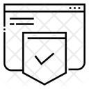 Website Development Shield Icon