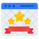 Web Rating Web Ranking Web Review Icon