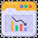 Downfall Web Recession Web Analytics Icon