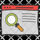 Seo Web Search Website Monitoring Icon