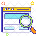 Web Search Web Exploration Web Review Icon