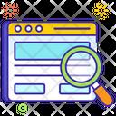Web Search Web Exploration Web Review Icon