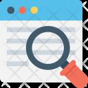 Web Search Magnifier Icon