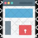 Web Security Lock Internet Security Icon