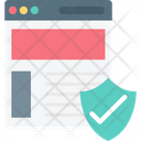 Web Security Shield Internet Security Icon