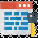 Web Security Password Lock Icon