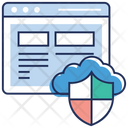 Cloud Data Security Web Security Cloud Protection Icon