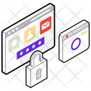 Web Security Web Lock Cyber Security Icon