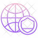 Web Security Web Protection Global Security Icon
