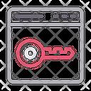 Key Lock Webpage Icon