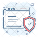 Secure Website Protected Website Web Protection Icon