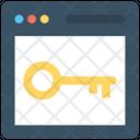 Web Security Key Internet Security Icon