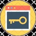 Web Security Web Locked Internet Security Icon