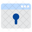 Web Security Key Word Lock Icon