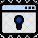 Web Security Key Word Lock Icon