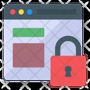 Web Protection Web Security Web Lock Icon