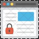 Web Security Online Icon