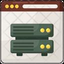 Web Server Data Server Web Database Icon
