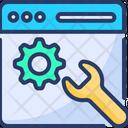 Web Service Service Setting Icon