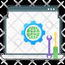 Web Setting Web Development Web Service Icon