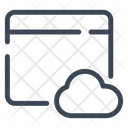 Cloud Network Storage Icon