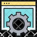 Web Setting Web Options Web Preferences Icon