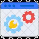 Web Setting Web Configuration Web Development Icon