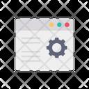 Web Setting Web Configuration Website Setting Icon