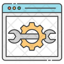Web Setting Vector Icon